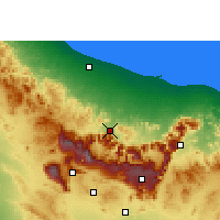 Nearby Forecast Locations - Al-Rustaq - Mapa
