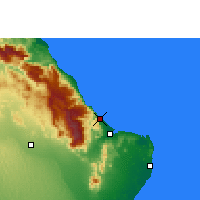 Nearby Forecast Locations - Qalhat - Mapa