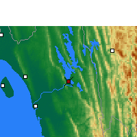 Nearby Forecast Locations - Rangamati - Mapa
