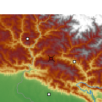 Nearby Forecast Locations - Dadeldhura - Mapa