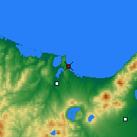 Nearby Forecast Locations - Abashiri - Mapa