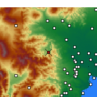 Nearby Forecast Locations - Chichibu - Mapa