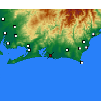 Nearby Forecast Locations - Hamamatsu - Mapa