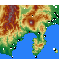 Nearby Forecast Locations - Fuji - Mapa