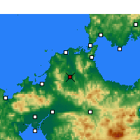 Nearby Forecast Locations - Iizuka - Mapa