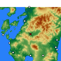 Nearby Forecast Locations - Hitoyoshi - Mapa