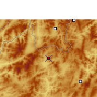 Nearby Forecast Locations - Luang Namtha - Mapa