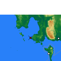 Nearby Forecast Locations - Sihanoukville - Mapa