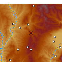 Nearby Forecast Locations - Zhongyang - Mapa