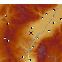 Nearby Forecast Locations - Xiaoyi - Mapa
