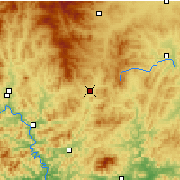 Nearby Forecast Locations - Pingquan - Mapa