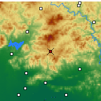 Nearby Forecast Locations - Xinglong - Mapa