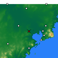 Nearby Forecast Locations - Jiaozhou Bay - Mapa