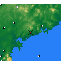 Nearby Forecast Locations - Haiyang - Mapa