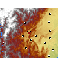 Nearby Forecast Locations - Lushan/SCH - Mapa