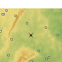 Nearby Forecast Locations - Ziyang - Mapa