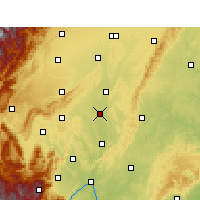 Nearby Forecast Locations - Meishan - Mapa