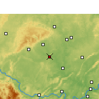 Nearby Forecast Locations - Zigong - Mapa