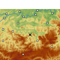 Nearby Forecast Locations - Xingwen - Mapa