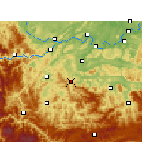 Nearby Forecast Locations - Gong Xian/SCH - Mapa