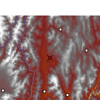 Nearby Forecast Locations - Xichang - Mapa