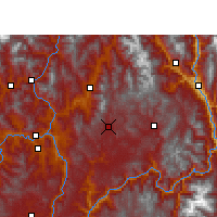 Nearby Forecast Locations - Huili - Mapa