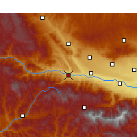 Nearby Forecast Locations - Baoji - Mapa