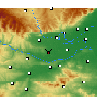 Nearby Forecast Locations - Mengzhou - Mapa