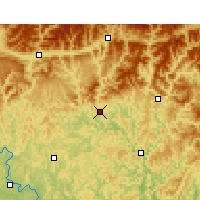 Nearby Forecast Locations - Bazhong - Mapa