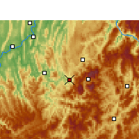 Nearby Forecast Locations - Wansheng - Mapa