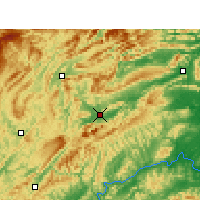 Nearby Forecast Locations - Zhangjiajie - Mapa