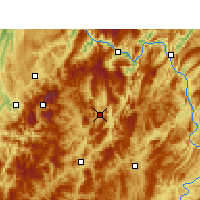 Nearby Forecast Locations - Daozhen - Mapa