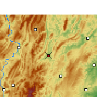 Nearby Forecast Locations - Xiushan - Mapa