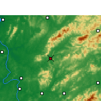Nearby Forecast Locations - Liuyang - Mapa