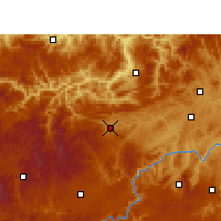 Nearby Forecast Locations - Jinsha - Mapa