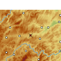 Nearby Forecast Locations - Zhenyuan/GZH - Mapa