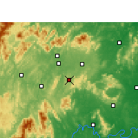Nearby Forecast Locations - Dongkou - Mapa