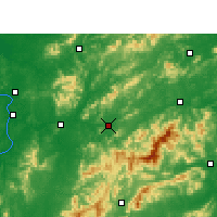 Nearby Forecast Locations - Pingxiang - Mapa