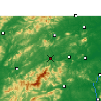 Nearby Forecast Locations - Yichun - Mapa