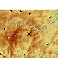 Nearby Forecast Locations - Jianhe - Mapa