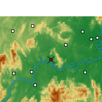 Nearby Forecast Locations - Qiyang - Mapa
