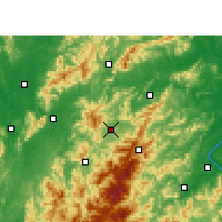 Nearby Forecast Locations - Ninggang - Mapa