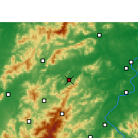 Nearby Forecast Locations - Yongxin - Mapa