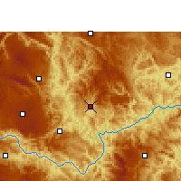 Nearby Forecast Locations - Wangmo - Mapa