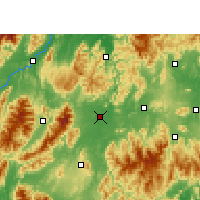 Nearby Forecast Locations - Dao Xian - Mapa