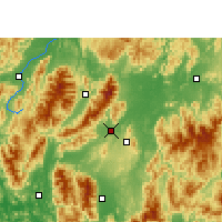 Nearby Forecast Locations - Jiangyong - Mapa