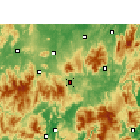 Nearby Forecast Locations - Linwu - Mapa