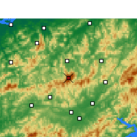 Nearby Forecast Locations - Montanhas Huangshan - Mapa