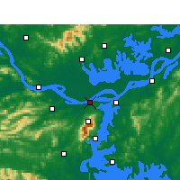 Nearby Forecast Locations - Jiujiang - Mapa