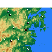 Nearby Forecast Locations - Sanmen - Mapa